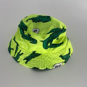 Carter's alligator kids neon green bucket hat